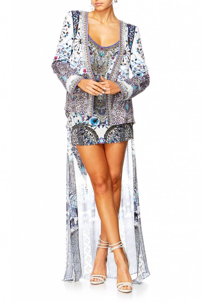 Camilla Double Layer Short Skirt W Long Back in the print In The Constellations