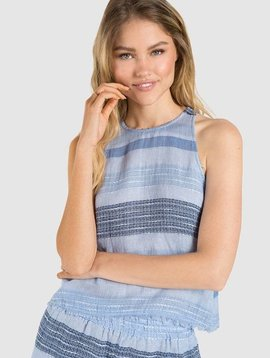 Bella Dahl Bella Dahl Frayed Hem Swing Tank-Shades Of Blue