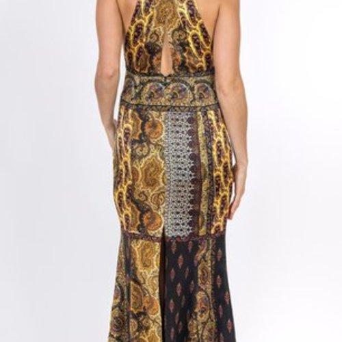 Trisha Paterson Pasha Gold Dress