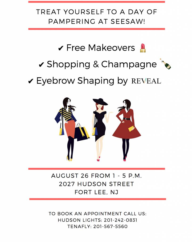 Makeovers + Eyebrow Shaping Event on August 26th