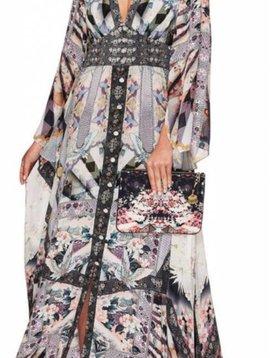 Camilla Kimono Sleeve Dress w/ Shirring Detail