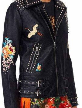 Camilla Studded Biker Jacket