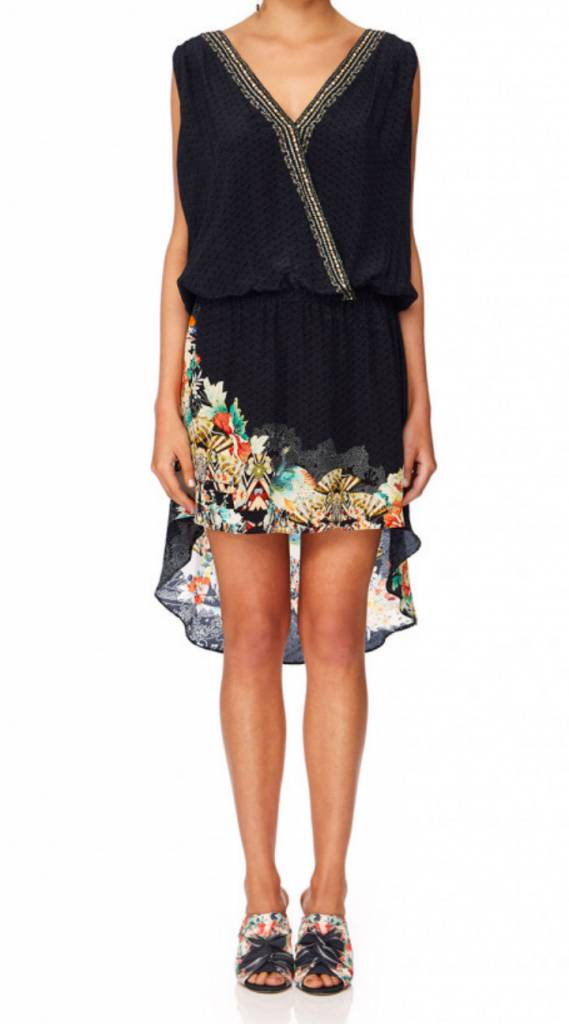 Camilla Crossover Dress w/ Long Back