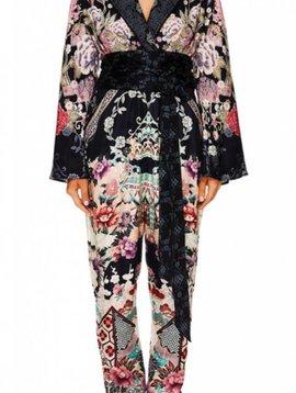 Camilla Kimono Sleeve Jumpsuit w/ Piping