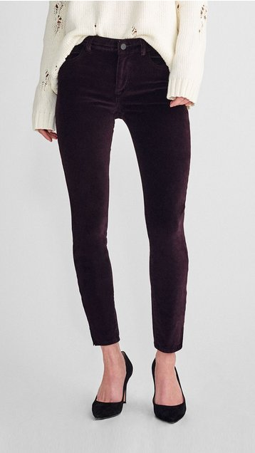 DL1961 Margaux Mid Rise Instasculpt Ankle Skinny
