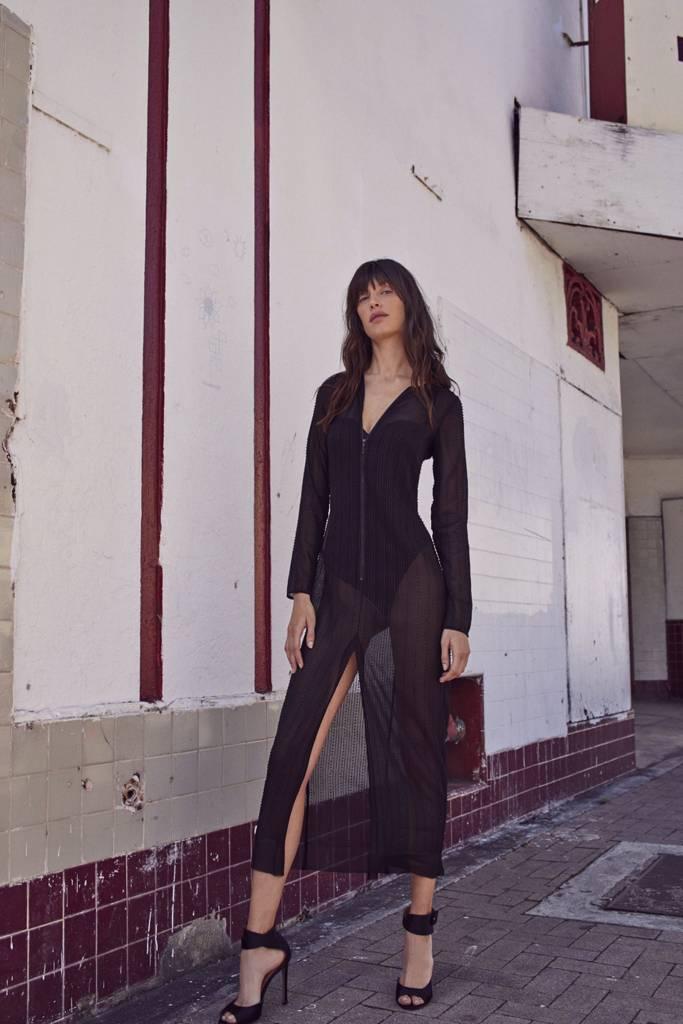 Alexis Rochelle-Robe-Beaded Black Drs