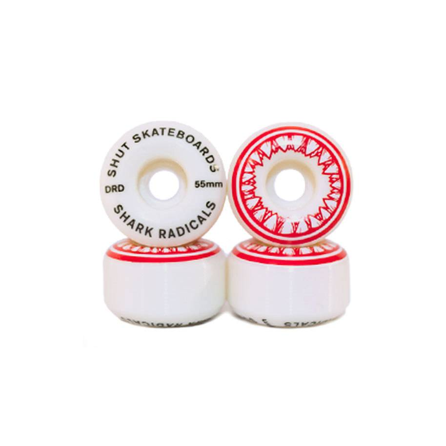 SHUT NYC SHUT Wheels Sharkradicals Red 55mm 101a