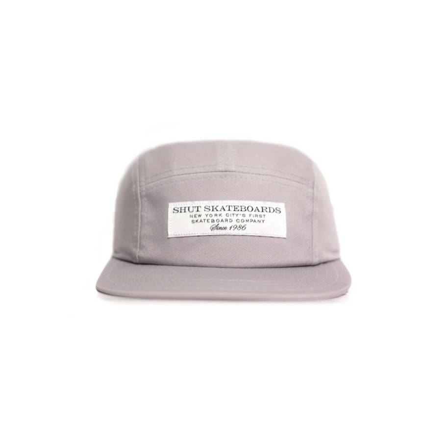 SHUT NYC SHUT Snapback Cap Signage Grey