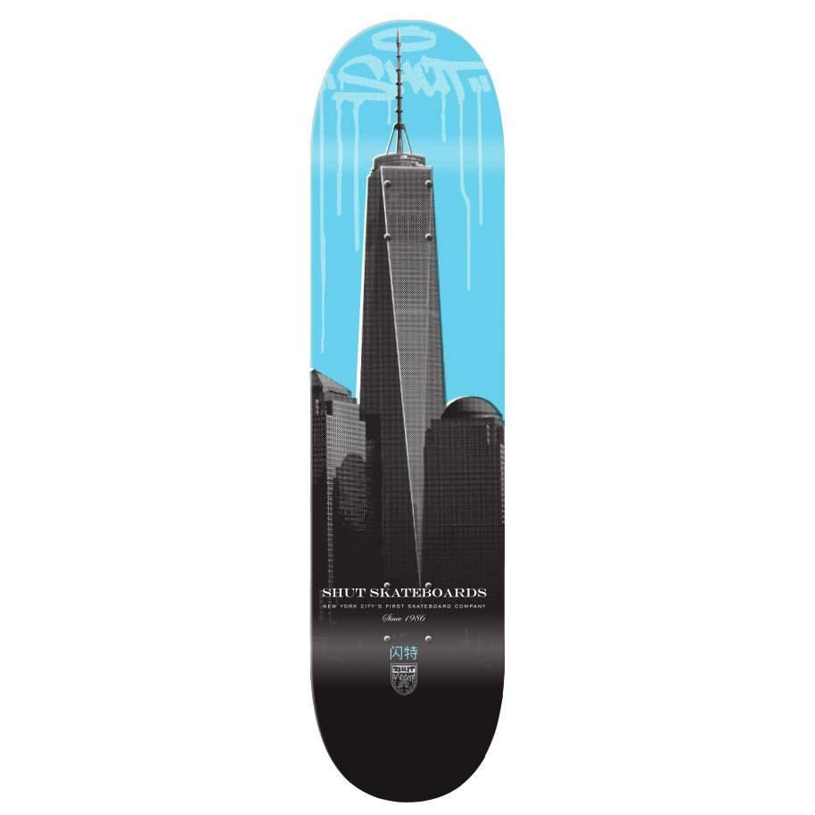"SHUT NYC SHUT Deck Drip City One World 8.125"""