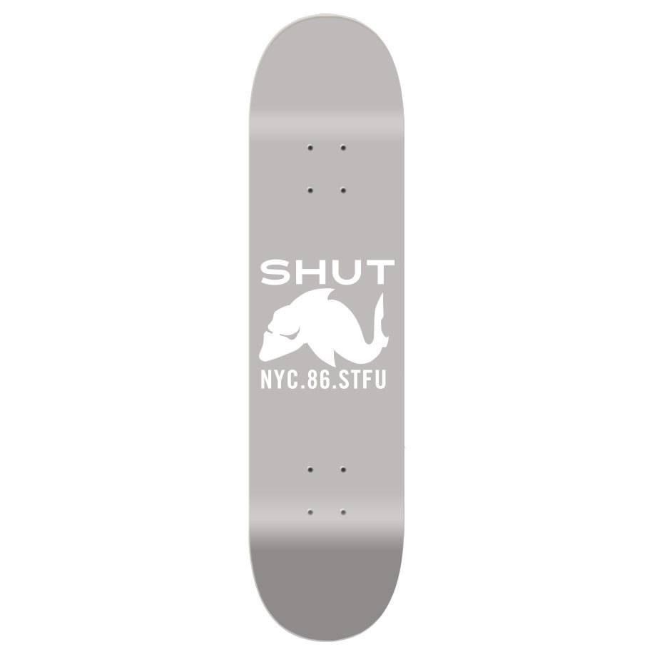 SHUT NYC Shut Deck STFU 86 8.125 Grey