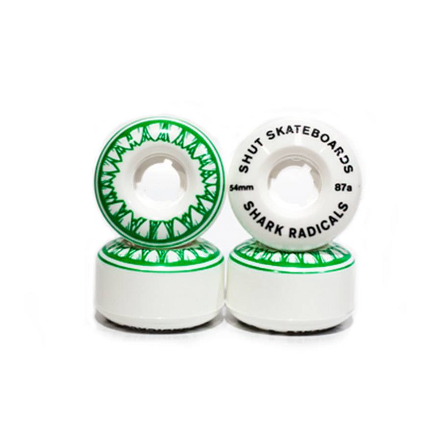 SHUT NYC SHUT Wheels Sharkradicals Green 54mm 87a