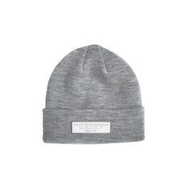 SHUT Signage Beanie Light Grey