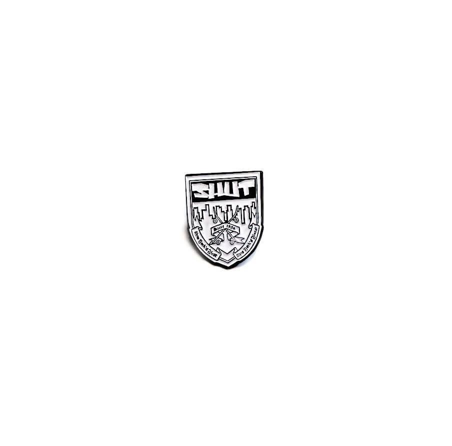 SHUT NYC SHUT Crest Pin