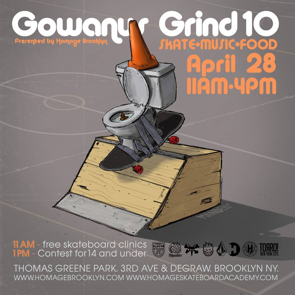Gowanus Grind 10th annual Presented by Homage Brooklyn