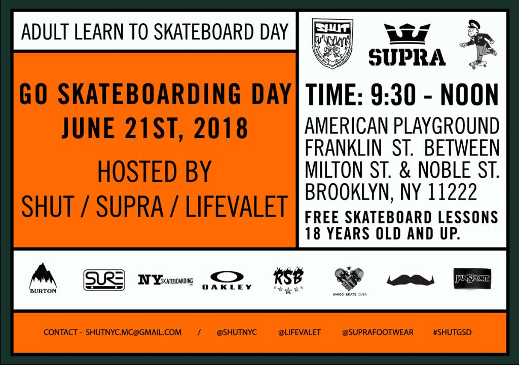 Adult Go Skateboarding Day 2018