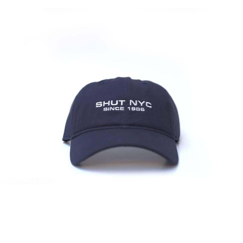 SHUT NYC SHUT Since 1986 Navy 6 Panel Cap