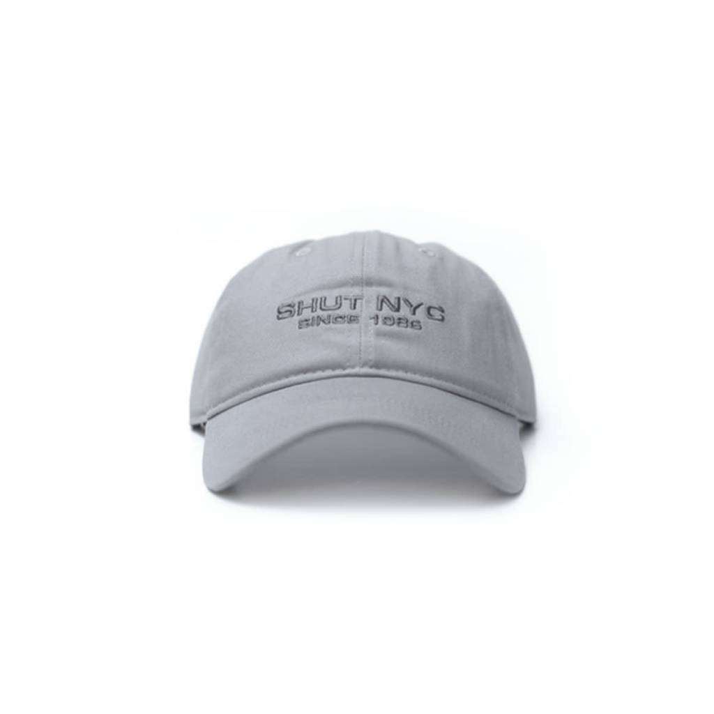 SHUT NYC SHUT Since 1986 Grey 6 Panel Cap
