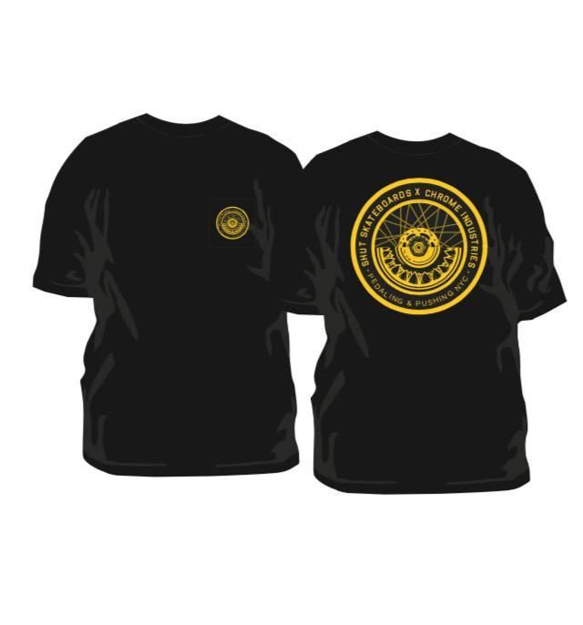 Chrome SHUT X Chrome Tee Shirt Limited Edition