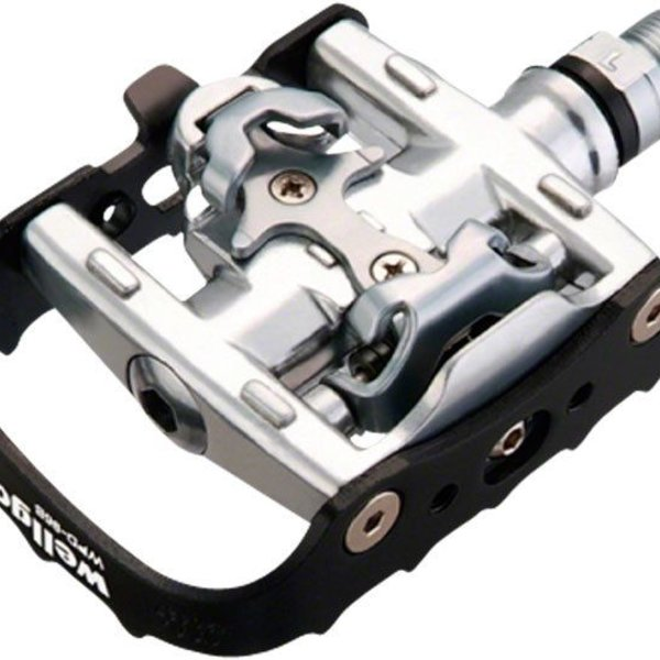 Wellgo WPD-95B Clipless/Clip Pedals, Black/Silver