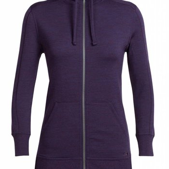 ICEBREAKER WOMEN'S DIA LONG SLEEVE ZIP HOOD