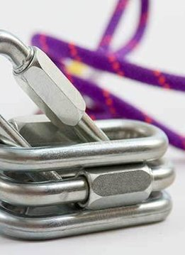 Petzl 10mm screw link, oval, steel