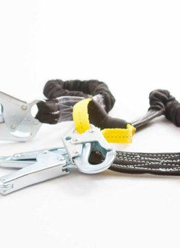 Buckingham Mfg Basic V lanyard, with steel connectors