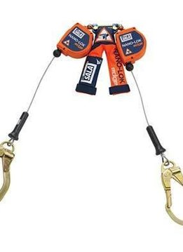 DBI/Sala Nano-Lok™ edge Twin-Leg Quick Connect Self-Retracting Lifeline - Cable