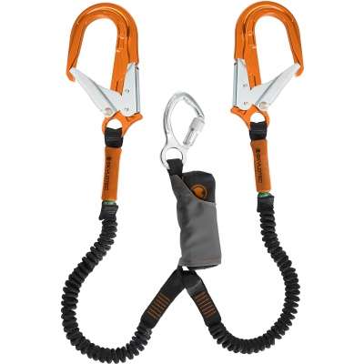 Skylotec SKYSAFE PRO FLEX Aluminum Double leg Large Orange Alu Snaphooks