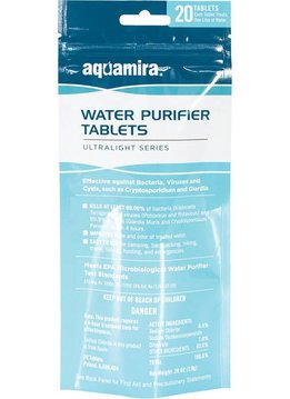 AQUAMIRA Water Purification Tablet, 20pk.