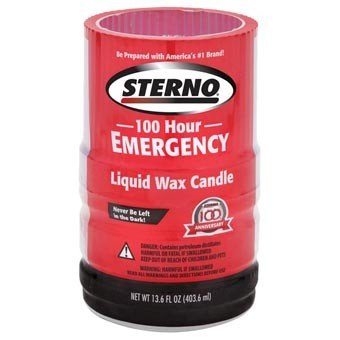 STERNO 100hr Liquid Wax Candle