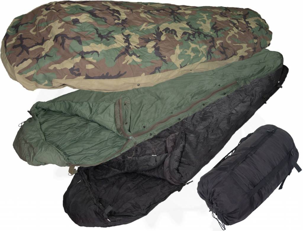Military Surplus Ecws Sleeping Bag 4 Part System W Bivy