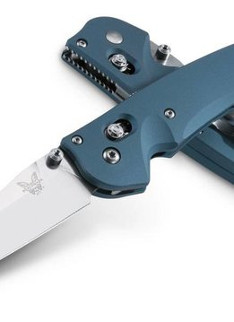 Benchmade USA Large Emissary, Blue, Fine Edge