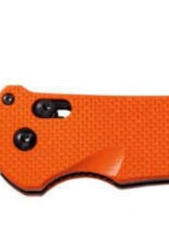 Benchmade USA Triage, Orange Scales, Satin Sheep's Foot, Serrated