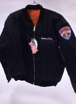 Rothco SafetyOne MA-1 Flight Jacket - Black