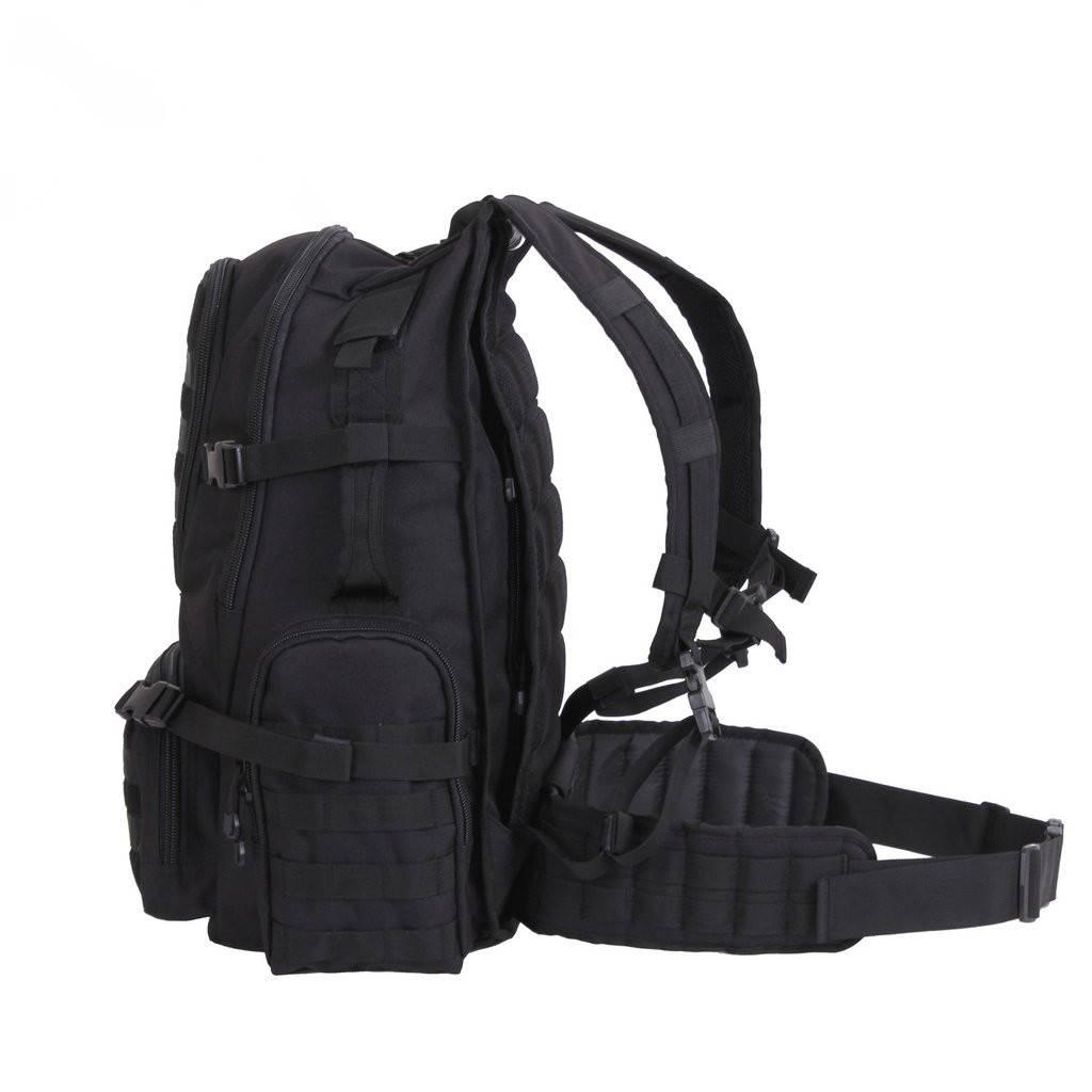 Rothco Multi-Chamber MOLLE Assault Pack - Black