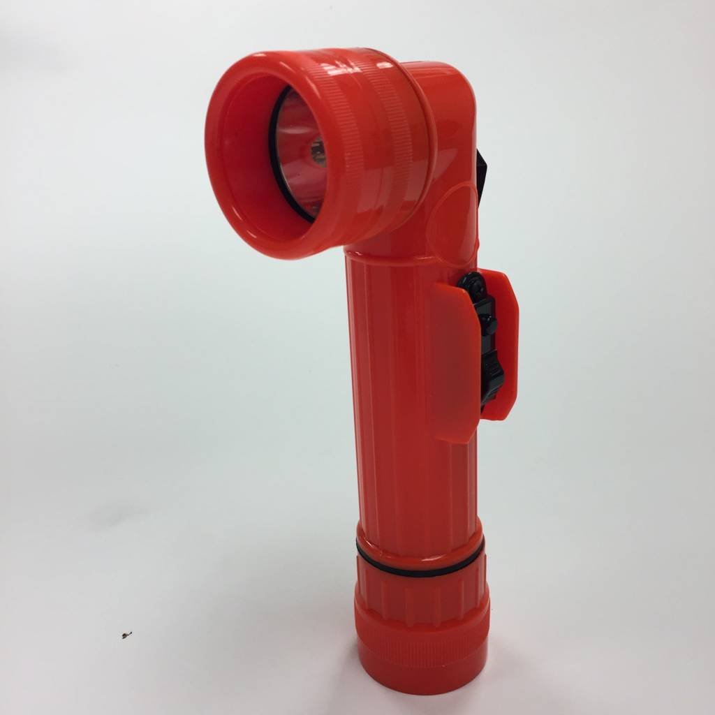 Orange Right Angle Flashlight