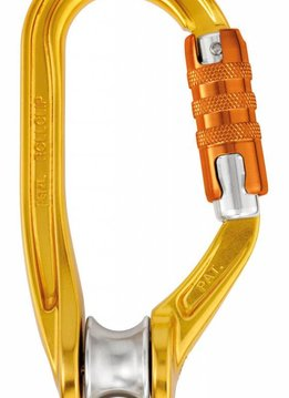 Petzl America ROLLCLIP pulley carabiner, TRIACT-LOCK