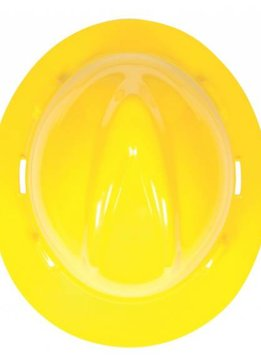 MSA Safety V Gard Hard  Hat  W/Rachet Suspension, Yellow