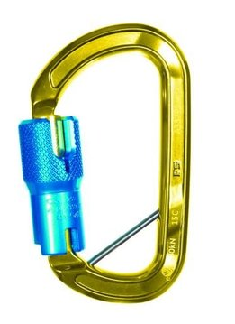 Sterling Rope Aluminum ANSI Autolock Carabiner w/Pin Gold