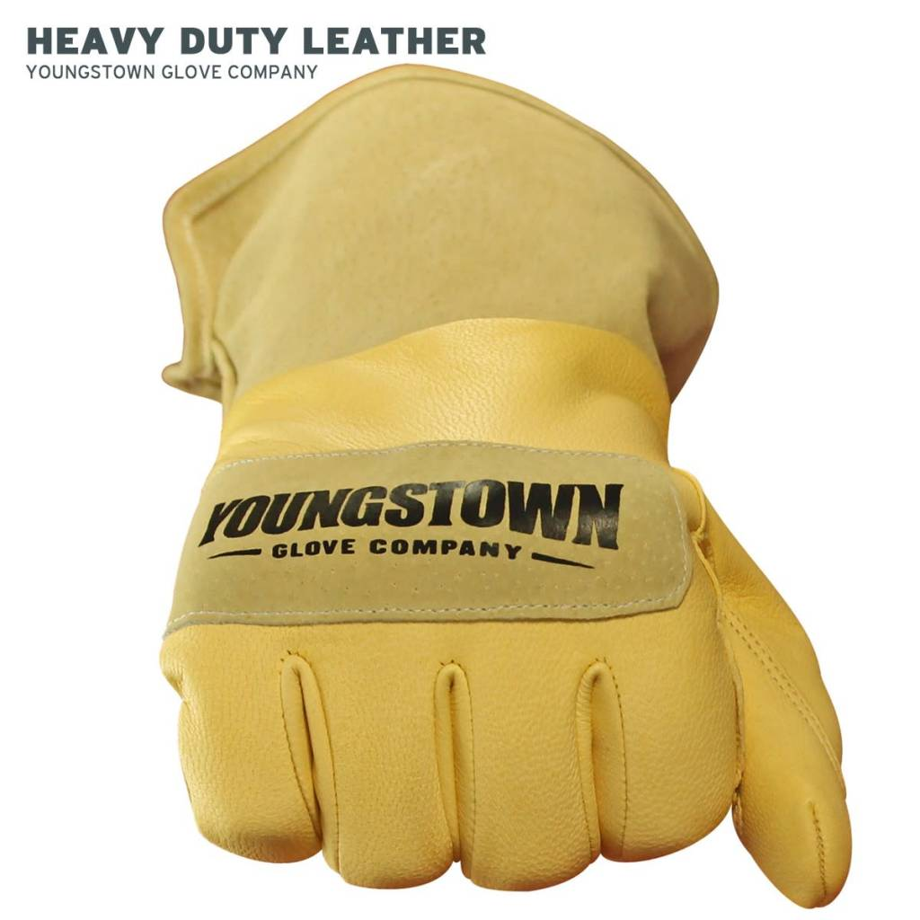 Leather Utility Plus Wide-Cuff Glove