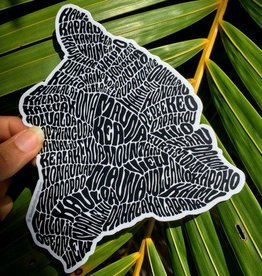 Hawaii Island Sticker Black