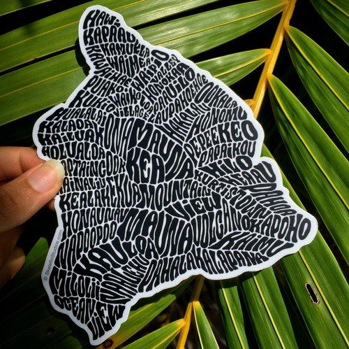 Hawaii Island Sticker