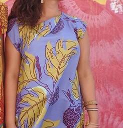 Tutuvi Flared Dress Ulu Purple