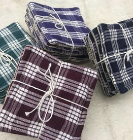 Vintage Palaka (plaid) Coaster Set 6