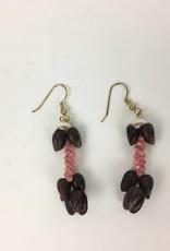 """Niihau Shell Earrings """"Poleho&Kahelelani"""" Short"""