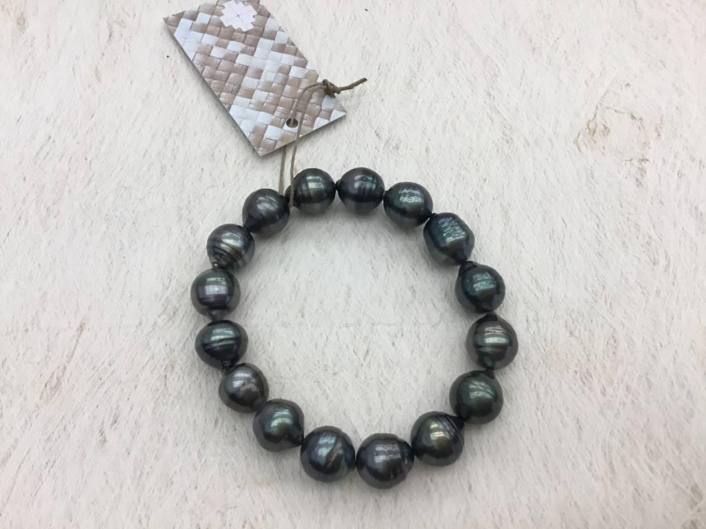 10mm Tahitian Pearl Stretch Bracelet no clasp #75
