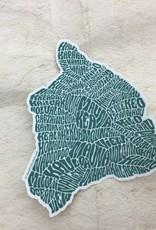 Hawaii Island Sticker Green