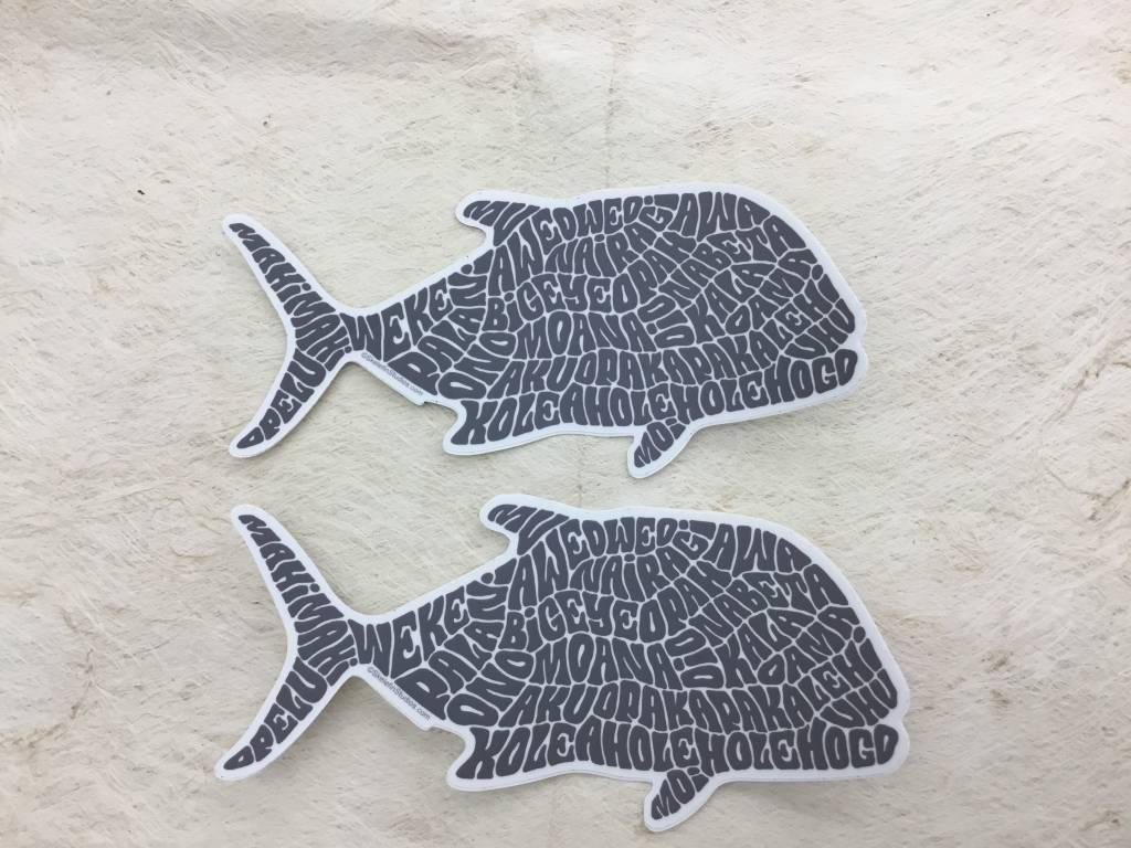 Ulua Fish Sticker