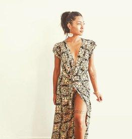 Radha Wrap Dress Quilt Black