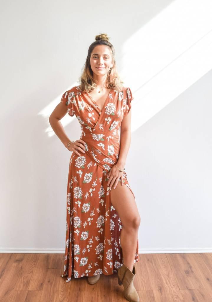 Radha Wrap Dress Kiele Red Road